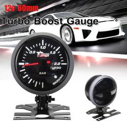 2019 geführte verstärkung 12V Auto Motorrad 60mm Schwarzes Gesicht Weißes Licht LED 2.0 Bar Auto Turbo Ladedruckanzeige günstig geführte verstärkung