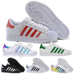 04a6e321953b Hot Cheap Superstar 80S Men Women Casual Basketball Shoes Skate Shoes 17  Color Rainbow Splash-ink Fashion Sports Shoes size eur 36-44