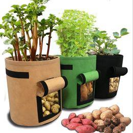 2020 crescer saco jardinagem Pots crescer reutilizável 3 Tamanho 5 cores crescimento de planta Bag Início jardim Batata Greenhouse Vegetable Plantio Bag Hidratação jardim cresce Bag desconto crescer saco jardinagem