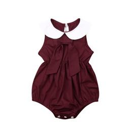 Bodys crianças on-line-Criança Crianças Bebê Menina Sem Mangas Bodysuits Verão Infantil Recém-nascidos Crianças Bonito Macacão Roupas Roupas Sem Mangas Casuais