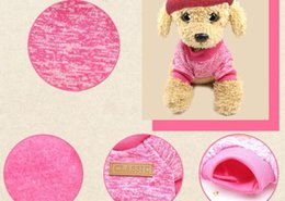 Abbigliamento da dhl online-DHL libero Pet cappotto maglione cane abbigliamento caldo freddo cotone freddo cucciolo gatto maglia cani abbigliamento maglione cane camicia-063002