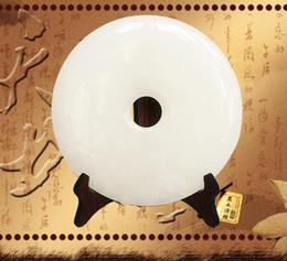 hip-hop-schmuck europa Rabatt Chinesische natürliche weiße Jade Ping Jade Ornamente Frieden Heimtextilien Schmuck Ornamente