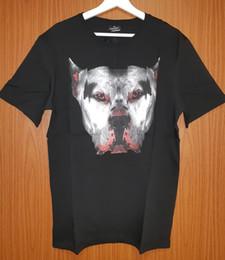 Maglietta calda degli uomini neri online-Marcelo Burlon - T-shirt nera da uomo con cane - ultime due pezzi Taglie grandi