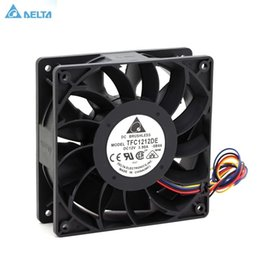 2019 fans del servidor delta Tfc1212de Delta 120mm Dc 12v 5200 rpm 252cfm Para Bitcoin Miner Caja de servidor potente Ventilador de enfriamiento axial T6190610 fans del servidor delta baratos