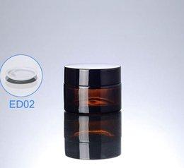 Âmbar vazio frascos de vidro cosméticos on-line-300 pçs / lote 20 ml de vidro Pequeno Frasco de Cosméticos mini 20g Vazio Marrom Amber jar frascos de Frascos de Embalagem