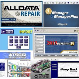 alldata reparar software instalado laptop Desconto 2019 Alldata versão mais recente Todos os dados V10.53 e Mitchell 2015 dados de reparação de automóveis VIVID ATSG com 1TB hdd melhor qualidade