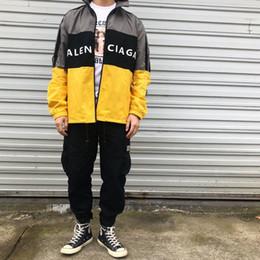esporte de jaqueta Desconto Juventude europeia moda retro jaquetas esportivas homens à prova de vento de alta gola zíper século carta de marca de impressão de costura clássico camisas de manga longa