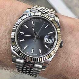Relojes mecánicos relojes online-29 colores FECHA simplemente ver hombres mecánico mismo-viento Ninguna de las baterías movimiento de barrido de acero inoxidable reloj Fecha modelo automático relojes 21