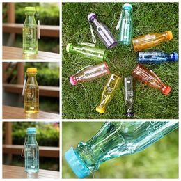 2019 bottiglie di plastica bpa Bottiglia da 550 ml Top Grand Bottiglia da 550 ml Bpa gratuita Bicicletta da ciclismo Sport Bottiglia da acqua in plastica infrangibile ZZA938 bottiglie di plastica bpa economici
