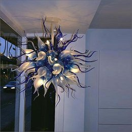 2019 techo luz color vidrio Murano Glass Chandeliers European Style 2019 the best new Diseñado a mano color soplado a mano Cristal de Murano Diseñador de luces de techo techo luz color vidrio baratos