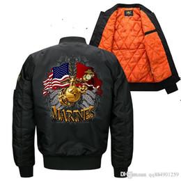 2019 jaqueta de moda militar mais quente 19ss Bomber Brasão Homens Jackets Air Force One Pilot Cotton Moda Militar Jacket Big Size jaqueta de Outono-Inverno Quente designer de Venda desconto jaqueta de moda militar mais quente