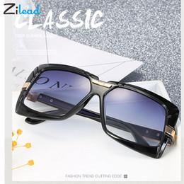 2019 occhiali da sole blu per gli uomini Zilead Oversize Square Street Beat Personalità Occhiali da sole Donna Moda Retro Occhiali da sole Uomo Blu Grande montatura Femmina Occhiali occhiali da sole blu per gli uomini economici