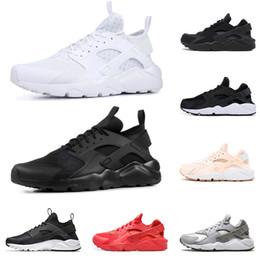 huarache de mens preto Desconto nike air Huarache Ultra Run sapatos triplo Branco Preto homens mulheres Running Shoes vermelho cinza Huaraches esporte Sapato Das Mulheres Dos Homens de Tênis nos 5.5-11