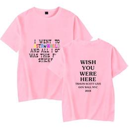 2019 camuflaje camiseta hombre poliéster Camisetas de diseño de moda para hombre Camisetas de Travis Scott Diseñador de verano Letras de Astroworld Imprimir camiseta de manga corta Tops Ropa