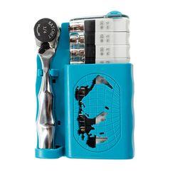 2019 utensile a chiavetta 12 PZ 1/4 S2 Chiave a Bussola Set Cacciavite Ratchet Wrench Kit Strumento di Riparazione Auto Combinazione Riparazione Utensili A Mano utensile a chiavetta economici