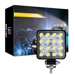 Luci di barra per i camion online-48W impermeabile luci di inondazione del lavoro del LED, Jeep Off Road Light Bar, Guidare Fari a LED con supporto per Jeep, Off-road, camion, auto