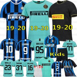 alexis jersey Promo Codes - 19 20 Thai ALEXIS LUKAKU LAUTARO SKRINIAR Inter 2019 2020 Milan Soccer Jerseys Calcio GODIN BARELLA Jerseys Custom Made Men Kids Kits