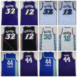 john shirts Rabatt Karl Malone Jersey # 32 Herren John Stockton Jersey # 12 High Quality Pistol Pete Maravich Basketball Jerseys # 44 Günstige Genähte Shirts S-XXXL