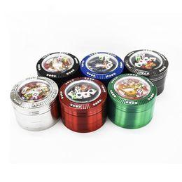 2020 dadi strumento I più nuovi lega di zinco variopinto Herb Grind Spice Miller Grinder Crusher Grinding Tabacco troncato da Poker con i Dadi portatile per il tubo di fumo strumento di DHL sconti dadi strumento