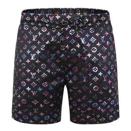 2019 camisa preta gravata branca L Atacado Moda Verão Shorts New Designers de secagem rápida Shorts Impresso Praia Pants Men Mens Swim Shorts solto Versão V