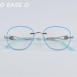 2019 Ultimi occhiali da vista senza montatura in coreano Occhiali da vista da donna coreana compresi 1.61-8 Lenti da vista anti raggi blu cheap rimless prescription glasses da occhiali senza prescrizione fornitori