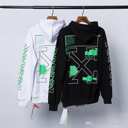 Grün pullover pullover online-Mens Hoodies Art und Weise europäischen grünen Pfeil mit Kapuze Strickjacke lose paar lässig um den Hals Hoodie drucken gedruckt