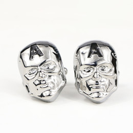 2019 зажимная маска Mask Shape Cufflinks Mens Shirt Buttons Suit Tie Clip For Men Button Cuff Links Women  gemelos spinki do mankietu Silver скидка зажимная маска