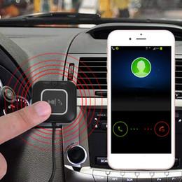 2019 freisprecheinrichtung Drahtloser Auto Bluetooth Musik Übermittler Empfänger Adapter freihändiges Auto aux Installationssatz USB Kabel Lautsprecher mit NFC bluetooth Installationssatz rabatt freisprecheinrichtung