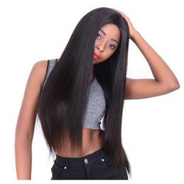 Peluca del cordón del pelo de malasia online-150% U Part Wig Pelucas de cabello humano para mujeres PrePlucked With Baby Hair Malaysia Peluca recta Remy Hair 4 * 4 Lace Front Wig