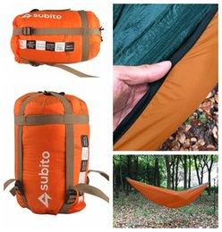 cores hammock atacado Desconto Atacado-LUCKSTONE 5 cores inverno Nylon de alta qualidade ao ar livre Camping Caminhadas Garden Hammock Cover Sleeping Bag