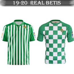 Camisolas baratas de alta qualidade on-line-Barato de alta qualidade Real Betis19-20 Jersey Futebol jersey de Futebol Respirável baratos e finos uniforme de Futebol
