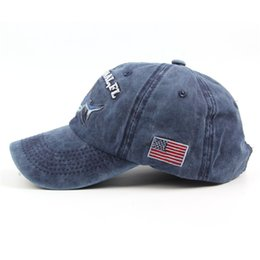 e34d7fbebfd holes baseball hats Coupons - New Pattern Cloth Comic Shark Embroidery Wash  Cowboy Baseball Hat Outdoor