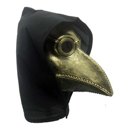 стимпанк-маски Скидка Steampunk Plague Bird Mask Doctor Mask Long Nose Cosplay Fancy Exclusive Gothic Retro Rock latex Halloween