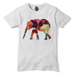 f37afed85a07a5 Geometric Elephant T Shirt Africa Animal Funny Hipster Triangle Tshirt Men  72 free shipping cheap tee Cheap wholesale tees