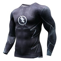 Asciugatrice flash t shirt online-Adhemar La camicia a compressione flash rashgard con manica lunga per lo sport traspirante Top T-shirt da corsa ad asciugatura rapida da uomo