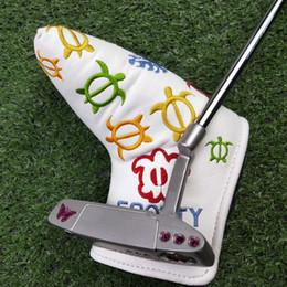 lila golfclubs Rabatt Golfschläger NP2 Purple Butterfly Limited Putter Silber Golf Putter 32 33 34 35 Zoll für Rechtshänder mit Kopfbedeckung Versandkostenfrei