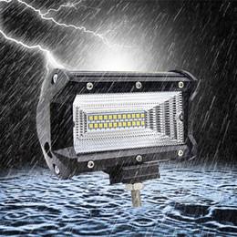 4x4 levou luzes de inundação quadrada Desconto Acessórios do carro LEVOU Barra de 72 W LEVOU Trabalho Inundação Quadrado Spot Light 12 V 24 V Para Condução Offroad Barco Caminhão Trator 4x4 SUV Lâmpadas de Carro