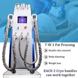 Equipamento de cavitação de gordura por ultra-som on-line-3 alças Cryo Cryolipolysis Máquina Ce Promoção Fat Congelamento Cryo Cryolipolysis Slimming ultra-som cavitação Beauty Salon Equipment