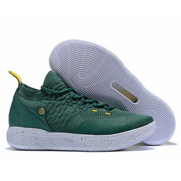 9238749a95d1d1 New KD 11 Army Green White Yellow Mens Basketball Shoes Low Price Kevin  Durant 11S Trainers Designer Sneakers