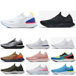 Nike shoes Fashion Epic React stricken Laufschuhe Herren Damen Belgien Schwarz Oreo Scarpe Neueste Sommer outdoor sportlich Sport Mann Turnschuhe