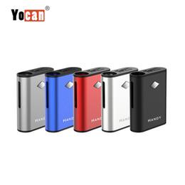 Caixa de mod três bateria on-line-Original Yocan Handy Box Modificador Vaporizador 500 mAh bateria recarregável três diferentes níveis de potência Eletrônico Cigarro Box Mod