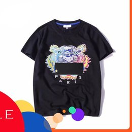 7f1f87ba0401 Fashion Professional Summer Designer T Shirts Men Women Embroidery Tops  Tiger Head Letter Embroidery T Shirt Brand Short Sleeve Tees S-2xl