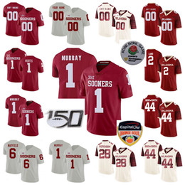 Oklahoma sooners divisa online-Oklahoma Sooners Maglie Jalen Hurts Jersey Kyler Murray Baker Mayfield Adrian Peterson Brian Bosworth NCAA Football pullover su ordinazione cucito