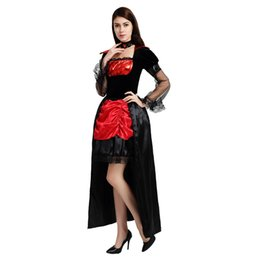 fantasia de vampiro adulto de halloween Desconto Adultos Mulheres Vampire Costume Trajes Cosplay 890 Vestido Demônio para o Natal Feminino Halloween Masquerade Party Dress Decoração
