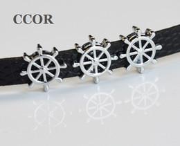 2019 pulseira de roda do navio 10 PCs 8mm Navio Barco Navio Roda Slider Encantos Beads Fit 8mm Nome Colarinho Cintos Pulseira Pulseira Acessórios de Jóias