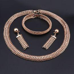 perlen halskette bräute Rabatt OEOEOS Schmuck Sets Frauen Afrikanische Perlen Halskette Set Trendy Choker Türkische Äthiopische Hochzeit Für Bräute Modeschmuck Set