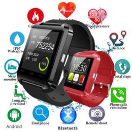 Montres tactiles bon marché en Ligne-montre intelligente de bluetooth, montre mobile u8 smartwatch u8, montre intelligente android u80 U8 à écran tactile avec smartwatches bluetooth u8