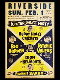 Pôsteres dança on-line-Buddy Holly Riverside Inverno Dance Party Art Silk Impressão Poster 24x36 polegada (60x90 cm) 018