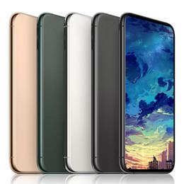 smartphone en acier inoxydable Promotion GooPhone 11 max Avec Face ID 1G RAM 16G 6.5inch ROM Quad Core 8MP caméra 3G WCDMA téléphones déverrouillés