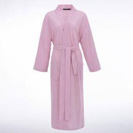 Vestiti sexy da uomo online-2019 New Unisex Thin Spring Kimono Uomo Donna Sexy accappatoio Waffle Robes morbido